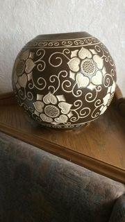 Große Designer Kugel-Keramikvase 26cm 1960er