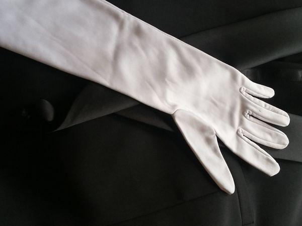 Lange weiße Handschuhe super lang
