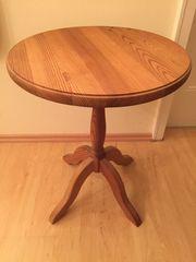 Tisch Beistelltisch Massivholz rund 60