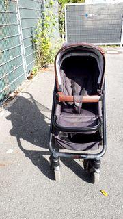 Kombi-Kinderwagen Moon Nuova braun schwarz
