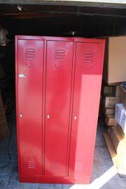 Metallschrank Spind Rot Gebraucht 180