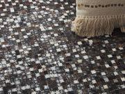 Teppich Kuhfell braun silber 140