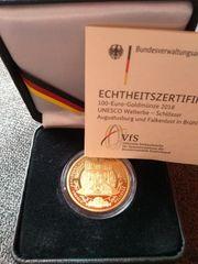 100 Euro Goldmünze 2018 Augustusburg