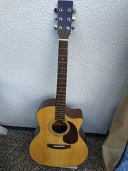 Neuwertige Westerngitarre mit Tasche inklusive