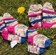 Selbstgestrickte Socken Kinder 22 23