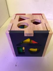 Steckwürfel-Kiste aus Holz