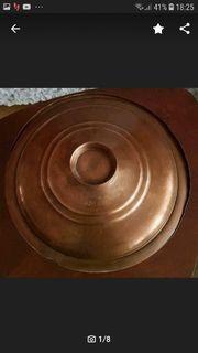 Alter Antik Kupfertopf Bratentopf mit