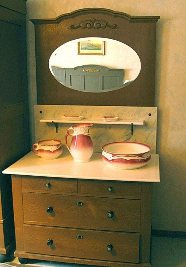 Vintage Spiegelkommode Schlafzimmerkommode