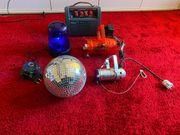 Blaulicht Discokugel Verstärker 2 Scheinwerfer