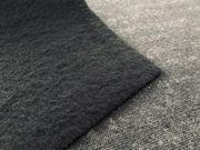 Stoffrest Fellimitat 70x60cm schwarz Nähen