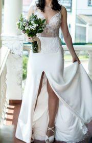 Sexy Brautkleid mit Schleier