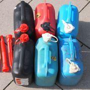 6 Stück Benzinkanister jeweils 5
