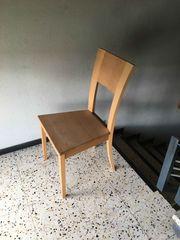 4 Stühle aus Buche massiv