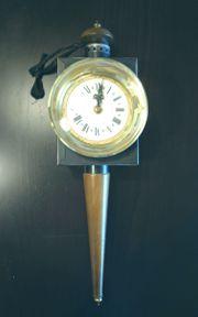 Kutschenlampe als Uhr Batteriebetrieb 60er