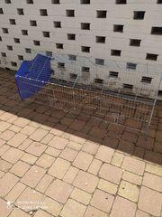 Außengehege-Freigehege für Kleintiere mit Sonnenschutz