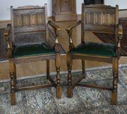 2 Lehnstühle Stuhlgruppe Jugendstil Art
