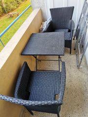 Balkon klaptisch und 2 Stühle