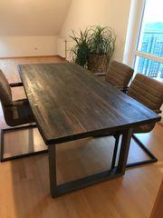 Holztisch Esstisch Wohnzimmertisch braun