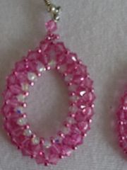 Ohrringe Swarovskielemente rosa christall Perlen