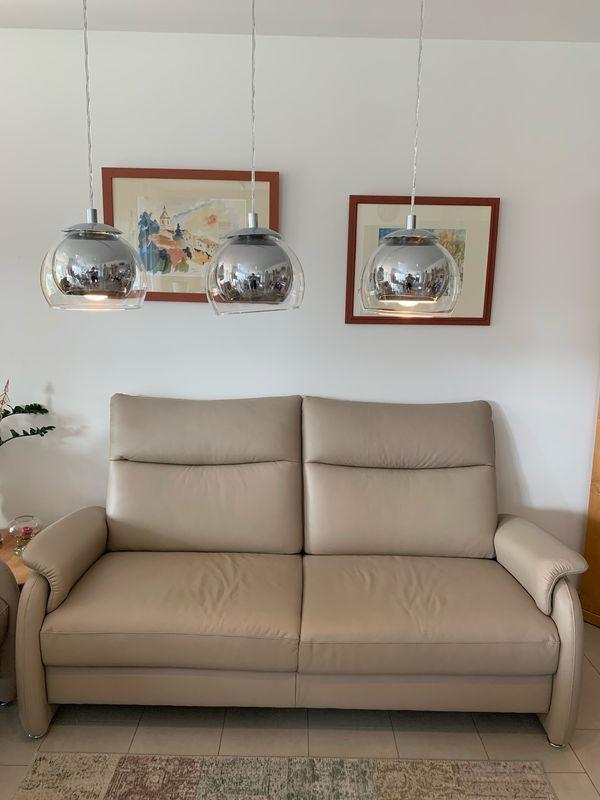 Leder Sofa Farbe Stone