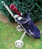 Golfset mit Golf-Bag Trolley und