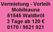 Mobile Sauna Oberberg - Waldbröl - Gummersbach - Wiehl