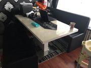 Tisch in Lackweiß und Eckbank
