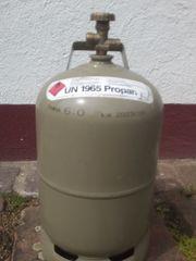 Gasflasche 5 kg grau leer