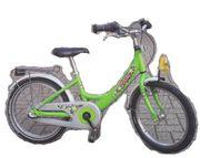 Puky 3-Gang Kinderrad grün