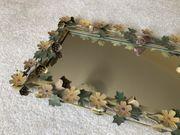 Spiegel Wandspiegel Antik Metall Blumen