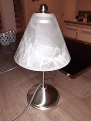 Nachtischlampe Silber