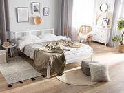 Holzbett weiß Lattenrost 140 x