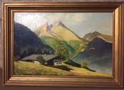 Schönes Berglandschaft Gemälde Ölbild Bild