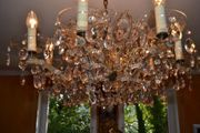 1 Venezianischer Antiker Kronleuchter Kristall