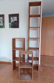 1- 3 Holz-Regale Küche WZ