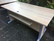 Schreibtisch Winkel Eck-Kombination hell