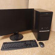 PC mit Monitor Maus u