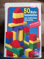 50 bunte Holzbaukloetze
