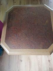 Wohnzimmertisch mit Kupferplatte