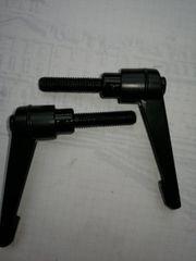 10x Klemmhebel M8 x30 schwarz