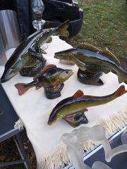 4 Antike Schöne Fischen Figuren
