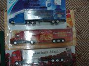 LKW Sattelzüge mit Werbeaufdruck