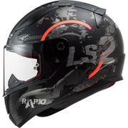 Helm LS2 CIRCLE schwarz-neonorange Gr