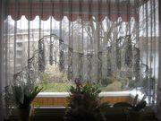 Gardine für Blumenfenster