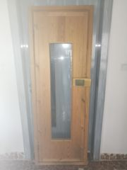 Saunatür Holz Massiv mit Glas