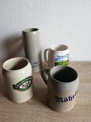 Ältere Bier KRÜGE zusammen