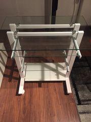 Computer Tisch aus Glas und