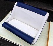 Bootssitze - Sitzbank Kunstleder Blau-Weiß