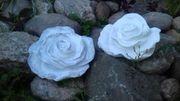 Betonrose Rose aus Beton Gartendeko