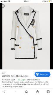 BAIMAIN longline Tweed Jacket Blazer